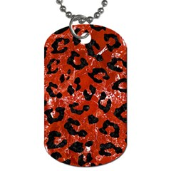 Skin5 Black Marble & Red Marble Dog Tag (two Sides) by trendistuff