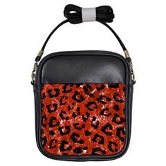 Skin5 Black Marble & Red Marble Girls Sling Bag by trendistuff
