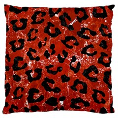 Skin5 Black Marble & Red Marble Large Cushion Case (one Side) by trendistuff
