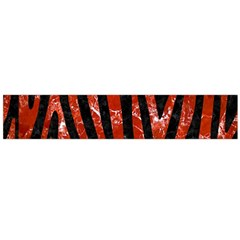 Skin4 Black Marble & Red Marble (r) Flano Scarf (large) by trendistuff