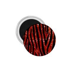 Skin4 Black Marble & Red Marble 1 75  Magnet by trendistuff