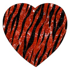 Skin3 Black Marble & Red Marble (r) Jigsaw Puzzle (heart) by trendistuff