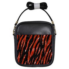Skin3 Black Marble & Red Marble Girls Sling Bag by trendistuff
