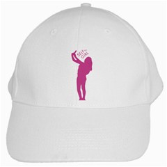 Selfie Girl Graphic White Cap by dflcprints