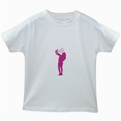Selfie Girl Graphic Kids White T Shirts by dflcprints