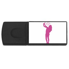 Selfie Girl Graphic Usb Flash Drive Rectangular (4 Gb)  by dflcprints