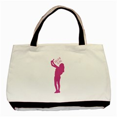 Selfie Girl Graphic Basic Tote Bag by dflcprints