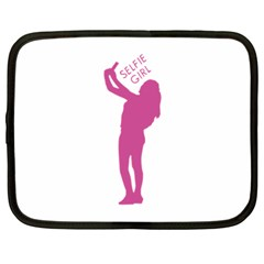 Selfie Girl Graphic Netbook Case (large) by dflcprints