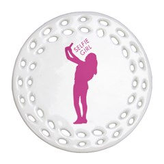 Selfie Girl Graphic Round Filigree Ornament (2side) by dflcprints