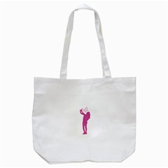 Selfie Girl Graphic Tote Bag (white) by dflcprints