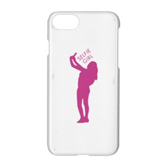Selfie Girl Graphic Apple Iphone 7 Hardshell Case by dflcprints