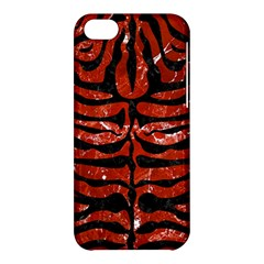 Skin2 Black Marble & Red Marble (r) Apple Iphone 5c Hardshell Case by trendistuff