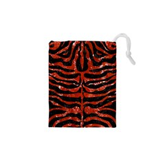 Skin2 Black Marble & Red Marble Drawstring Pouch (xs) by trendistuff
