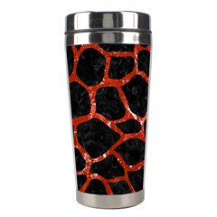 Skin1 Black Marble & Red Marble (r) Stainless Steel Travel Tumbler