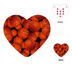 Basketball Sport Ball Champion All Star Playing Cards (heart)  by Jojostore