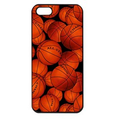 Basketball Sport Ball Champion All Star Apple Iphone 5 Seamless Case (black) by Jojostore