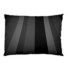 Black Minimalistic Gray Stripes Pillow Case by Jojostore