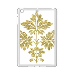 Gold Authentic Silvery Pattern iPad Mini 2 Enamel Coated Cases by Saleoff