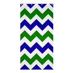 Blue And Green Chevron Pattern Shower Curtain 36  X 72  (stall)  by Jojostore