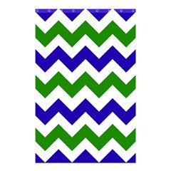 Blue And Green Chevron Pattern Shower Curtain 48  X 72  (small)  by Jojostore