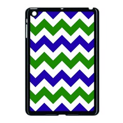 Blue And Green Chevron Pattern Apple Ipad Mini Case (black) by Jojostore