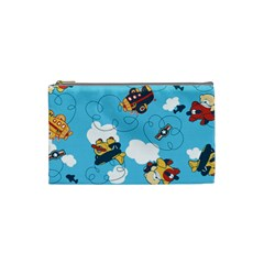 Bear Aircraft Cosmetic Bag (Small)  by Jojostore