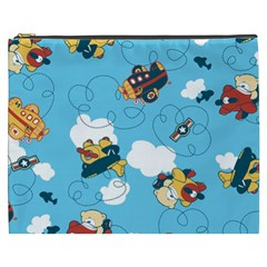 Bear Aircraft Cosmetic Bag (XXXL)  by Jojostore