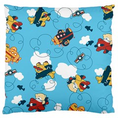 Bear Aircraft Large Flano Cushion Case (two Sides) by Jojostore