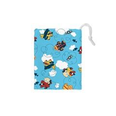 Bear Aircraft Drawstring Pouches (XS)  by Jojostore