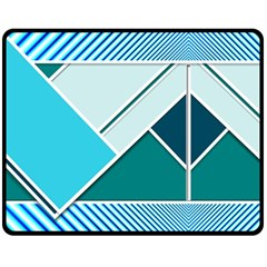 Logo Concept Banner Header Idea Double Sided Fleece Blanket (medium)  by Amaryn4rt
