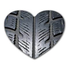 Mature Black Auto Altreifen Rubber Pattern Texture Car Heart Mousepads