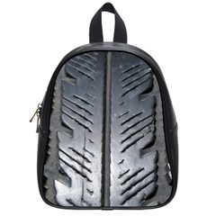 Mature Black Auto Altreifen Rubber Pattern Texture Car School Bags (small)  by Amaryn4rt