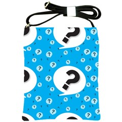 Blue Question Mark Shoulder Sling Bags by Jojostore