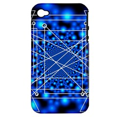 Network Connection Structure Knot Apple Iphone 4/4s Hardshell Case (pc+silicone) by Amaryn4rt