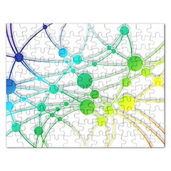 Network Connection Structure Knot Rectangular Jigsaw Puzzl