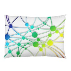 Network Connection Structure Knot Pillow Case