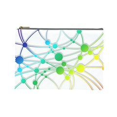 Network Connection Structure Knot Cosmetic Bag (large)  by Amaryn4rt