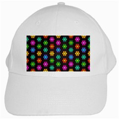 Pattern Background Colorful Design White Cap