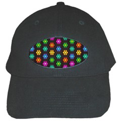 Pattern Background Colorful Design Black Cap