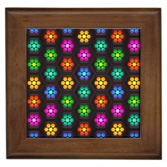 Pattern Background Colorful Design Framed Tiles