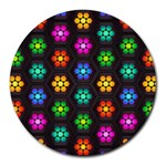 Pattern Background Colorful Design Round Mousepads