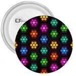 Pattern Background Colorful Design 3  Buttons
