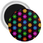 Pattern Background Colorful Design 3  Magnets
