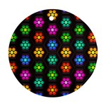 Pattern Background Colorful Design Ornament (Round)