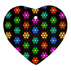 Pattern Background Colorful Design Ornament (Heart)