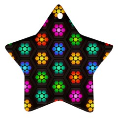 Pattern Background Colorful Design Ornament (Star)