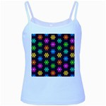 Pattern Background Colorful Design Baby Blue Spaghetti Tank