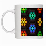 Pattern Background Colorful Design White Mugs