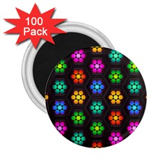 Pattern Background Colorful Design 2.25  Magnets (100 pack)