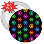Pattern Background Colorful Design 3  Buttons (100 pack)